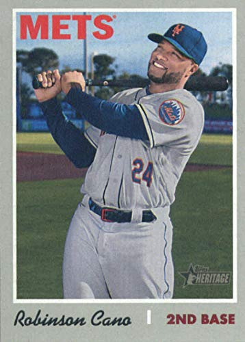 2019 Topps Heritage Baseball #323 Robinson Cano New York Mets Official MLB Trading Card