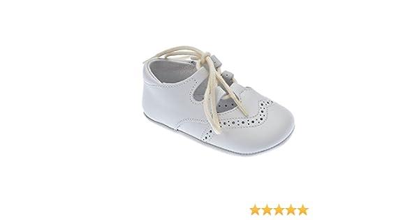 Zapato Inglesito para bebé en piel de 1ª Calidad mod.1348 (17, Beige)