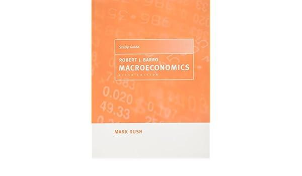 Robert J Barro Macroeconomics 5th Edition
