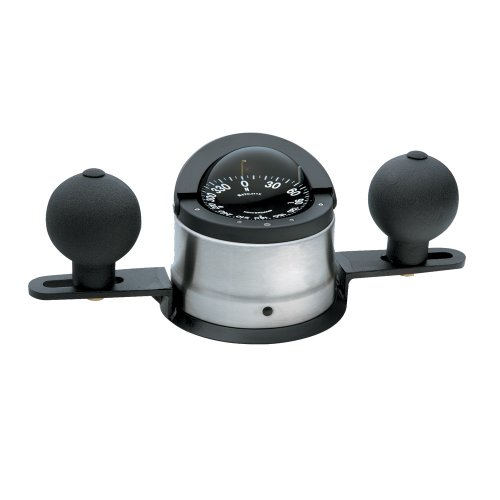 The Amazing Quality Ritchie B-200P Navigator Steel Boat Compass - Binnacle Mount - Stainless Steel/Black