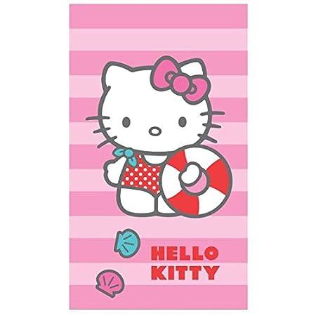 Hello Kitty - Toalla de Playa o de Baño Deauville, 70 x 120 cm, 100% Algodón: Amazon.es: Hogar