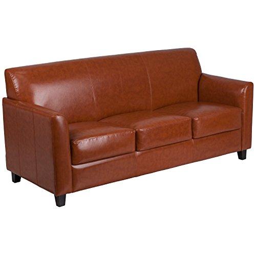 Flash Furniture HERCULES Diplomat Series Cognac Leather Sofa