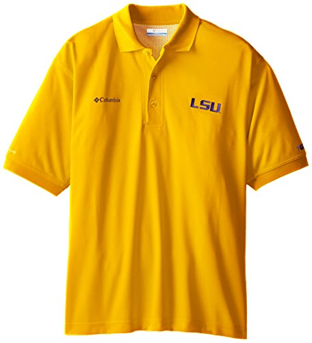 NCAA LSU Tigers Collegiate Perfect Cast Polo Shirt, Yellow, (Lsu Tailgate Golf)
