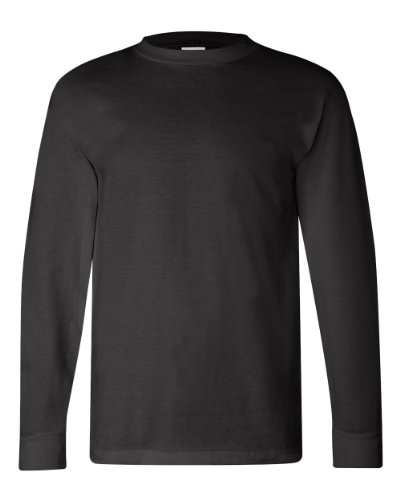 Bayside Men's Classic Style Full Cut Heavyweight T-Shirt, Black, (Bayside Classic T-shirt)