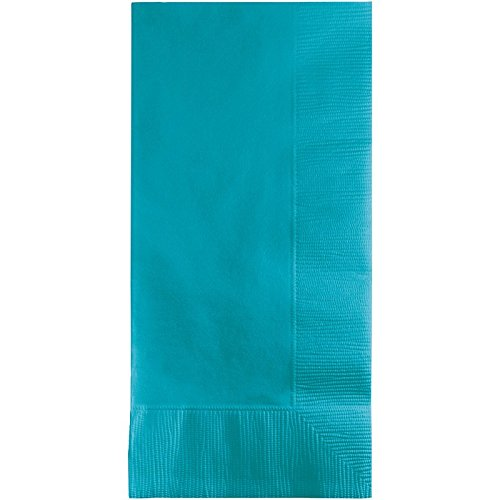 Club Pack of 600 Bermuda Blue Premium 2-Ply Disposable Dinner Napkins 8