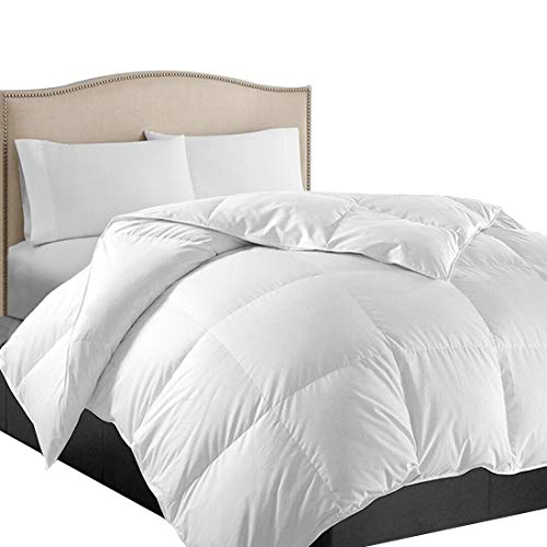 EASELAND King Soft Quilted Down Alternative Summer Cooling Comforter Luxury Hotel Collection Reversible Duvet Insert with Corner Ties,Warm Fluffy Hypoallergenic for All Season,White,90 by 102 Inches
