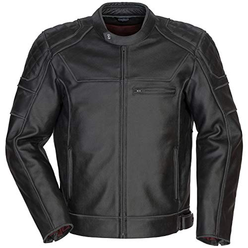Cortech Men's Dino Leather Motorcycle Jacket (Black, XX-Large)