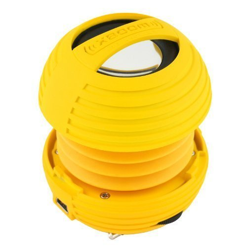 XBOOM Mini Portable Capsule Speaker with Rechargeable Battery and Enhanced Bass+ Resonator - Yellow by XBOOM