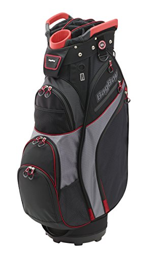 Bag Boy Chiller Cart Bag, Black/Charcoal/Red