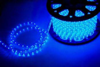 """CBconcept 12V-LR30FT-B Low Voltage 12V BLUE 30 Feet 2-Wire 1/2"""" LED Rope Light - Boat/Camper/RV Lighting"""