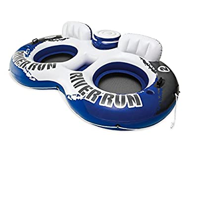 4 Pack Intex River Run II 2 Person Water Tube River Lake Pool Float with Cooler: Toys & Games