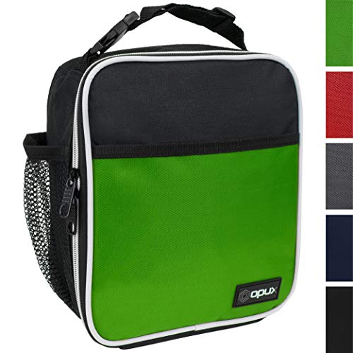 - OPUX Premium Insulated Lunch Box | Soft Leakproof School Lunch Bag for Kids, Boys, Girls | Durable Reusable Work Lunch Pail Cooler for Adult Men, Women, Office - Fits 6 Cans (Green)