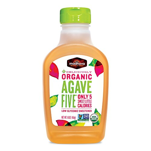 Madhava Naturally Sweet Organic Agave Five Low-Glycemic Sweetener, 16 ()