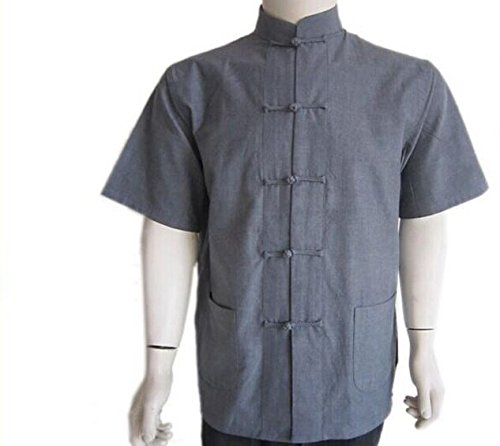 Hot Chinese Tang Style Men Old Coarse Tang Suit Taichi Wingchun kungfu Shirt