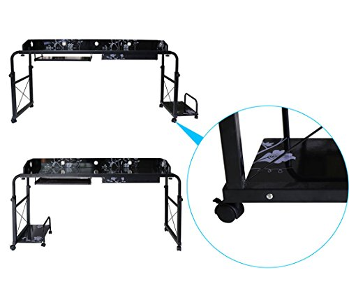 BestValue Go Mobile Overbed Table 55''Laptop Table Cart by BestValue Go (Image #1)
