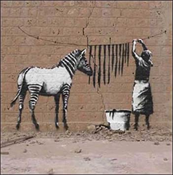 Greeting Card Cm3627 Blank Birthday Zebra Stripes Art