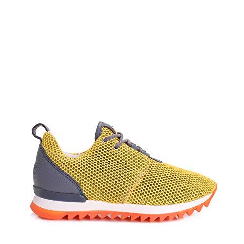2v6281 Scarpa Yellow Shiny Sneakers Donna Pepe Patrizia 05gxEE