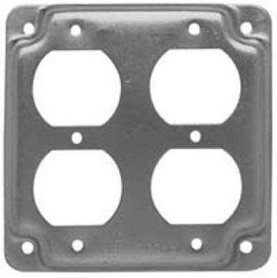 "Hubbell Raco 907 C 4 ""正方形2両面コンセントボックスカバー B00GXKBZ32"