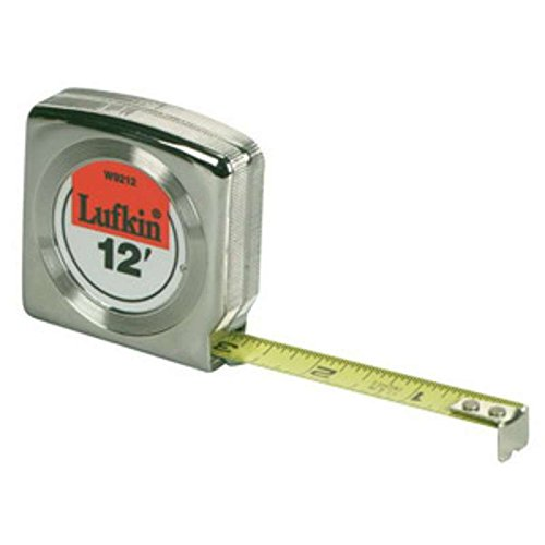 Measure Tape Lufkin Mezurall - Mezurall Power Return Measuring Tape, Reads in Inches and Metric, 1/2