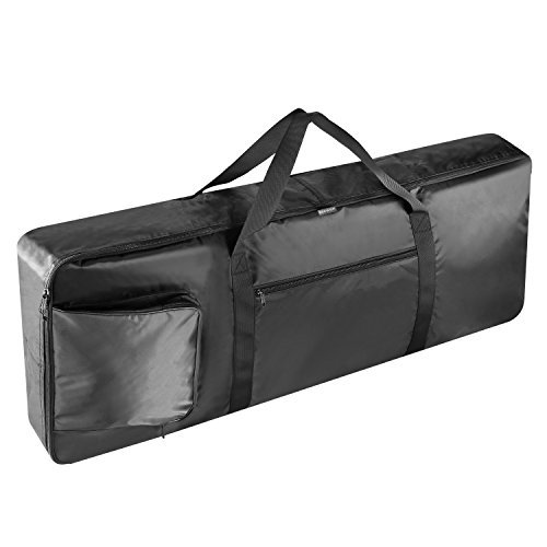 Neewer 76-Key Keyboard Bag with Extra Pockets for Electric Piano, Made of Durable and Waterproof Nylon, Adjustable and Portable Backpack Straps (Black)