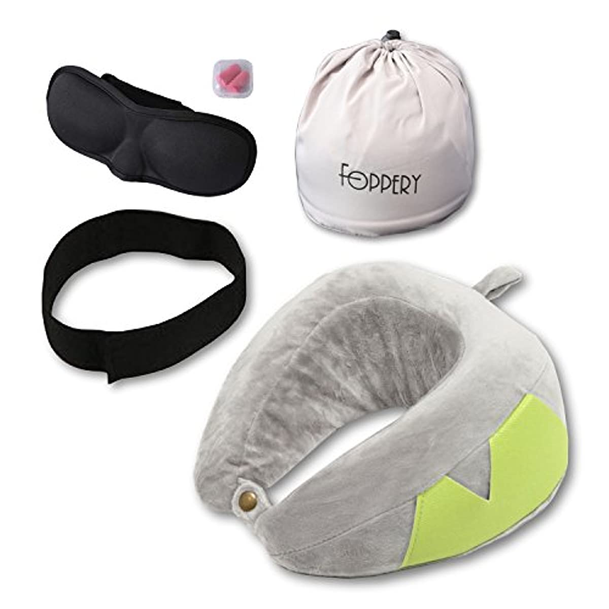[해외] 훠 파리 FOPPERY 넥 pillow 수베개 기분이 상쾌하 저 반발 콤팩트 손바닥 사이즈 슈트 케이스 설치 가능 운반에 편리려 베개