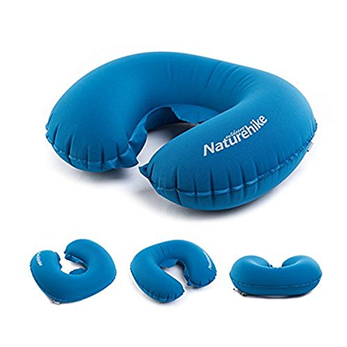 VOIMAKAS Travel pillow,Inflatable Neck Pillow Blow Up Air Cushion Portable Neck Support with Compression Bag for Office Airplane,Train,Car-by