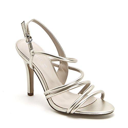 ALESYA by Scarpe&Scarpe - Sandalias altas con tiras, con Tacones 9 cm Oro