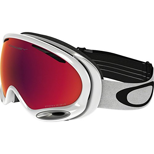 Oakley A-Frame 2.0 Goggles, Polished White, Prizm Torch Iridium, - White Frame Oakley A