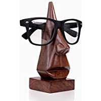 storeindya Wooden Eyeglass Holder Spectacle Display Stand Desk Nose Shaped Kid Glasses Handcrafted Optical Accessories