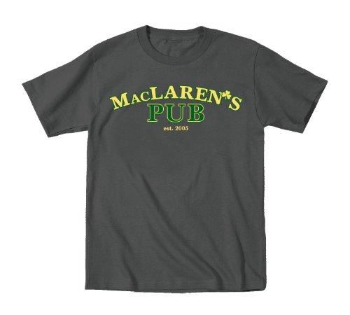 Maclaren's Pub Retro NYC How I Met Bar Drinking St.Patty's Funny Mens T-Shirt - Maclarens Bar
