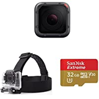 GoPro HERO5 SESSION w/ Head Strap and Memory Card