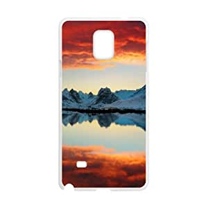 {Funny Series} Samsung Galaxy Note 4 Case Sky Reflection in Water, Men Case Okaycosama - White