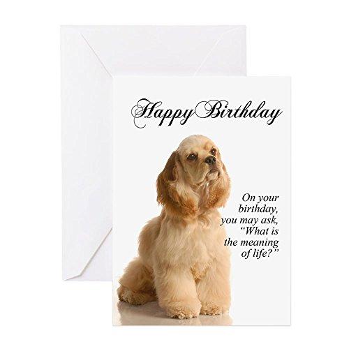 CafePress - Cocker Spaniel Birthday Card - Greeting Card, Note Card, Birthday Card, Blank Inside Matte