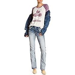 Rock Revival Womens Melina Easy Straight Jeans Denim
