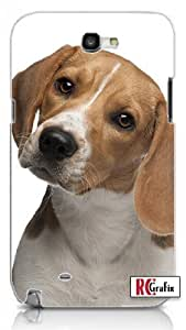 Cool Painting Cute Beagle Pet Dog Unique Quality Hard Snap On Case for Samsung Galaxy S4 I9500 - White Case