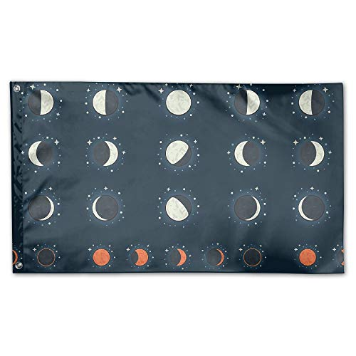 BINGOGING FLAG Decorative House Flags - Moon Phase Outdoor S