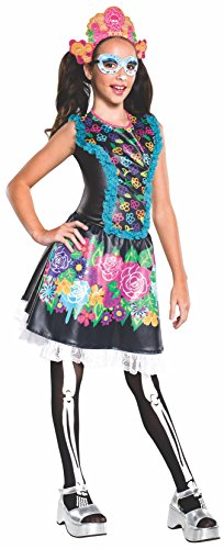 Monster High Dog Costumes (Rubie's Costume Monster High Collector Series Skelita Calaveras Child Costume,)