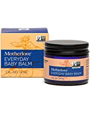 Motherlove Everyday Baby Balm (2 oz.) Moisturizing Plant-Based, All Natural Herbal Salve for Baby's Delicate Skin, Infused with Soothing Chamomile, Great for All Ages