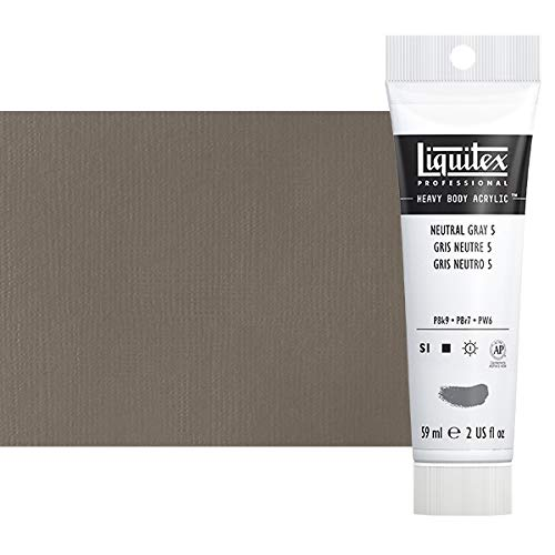 Liquitex Professional Heavy Body Acrylic Paint, 2-oz Tube, Neutral Gray Value 5/Mixing Gray
