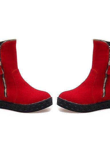 Plataforma 5 Red us10 Punta Red Zapatos Rojo Uk7 Ante Eu42 Uk8 De Botines Xzz us9 10 5 Azul Eu41 Redonda Cn42 Mujer Botas 8 Vestido 5 5 Sintético Cn43 Negro atA1q