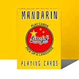 Lingo Mandarin Playing Cards | Language Learning Game Set | Fun Visual Flashcard Deck to Increase Vocabulary and Pronunciation Skills - 54 Useful Phrases