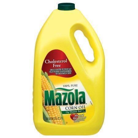 Mazola 100% Pure Corn Oil, 128 oz, naturally cholesterol free (1) by Mazola