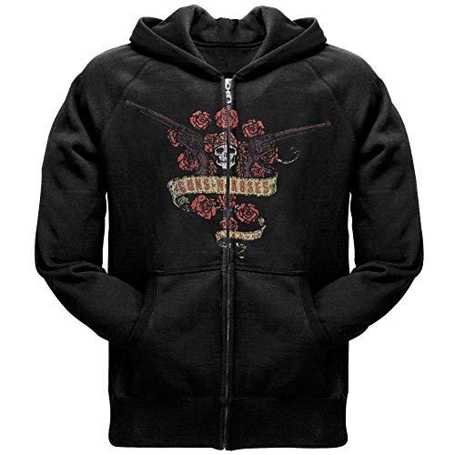 (Guns N' Roses - Bouquet Logo Zip Hoodie - Large)