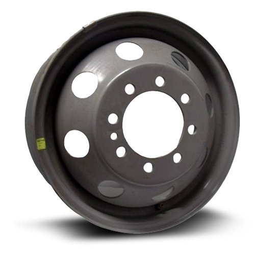 Aftermarket Dual Steel Rim 16X6, 8X165.1,CB 124, 131, GRAY finish (Please read entire listing) X45460