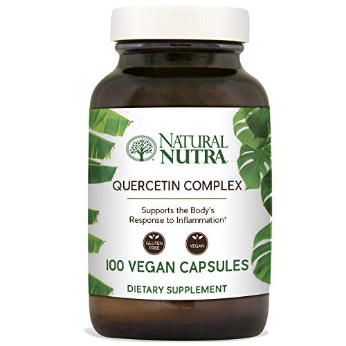 (Natural Nutra Quercetin Complex with Bromelain, Vitamin C Citrus Bioflavonoid Supplement, Antioxidant and Inflammation Support, 100 Vegan and Vegetarian Capsules)