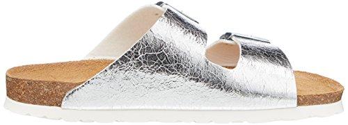 27525 Damen Tamaris Silber Silver Pantoletten Metall 5pqnU