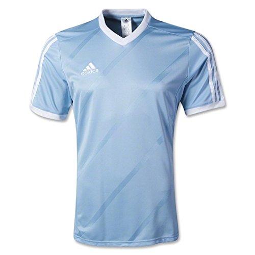 adidas Performance Boys Youth Tabela 14 Short Sleeve Jersey (Small, Sky Blue/White)