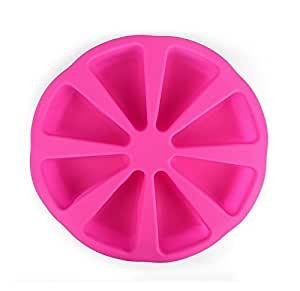 Efivs Arts 8 Cavity Silicone Portion Cake Mold Pizza Slices Pan