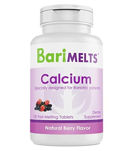 (BariMelts Calcium Citrate, Dissolvable Bariatric Vitamins, Natural Berry Flavor, 120 Fast Melting Tablets)