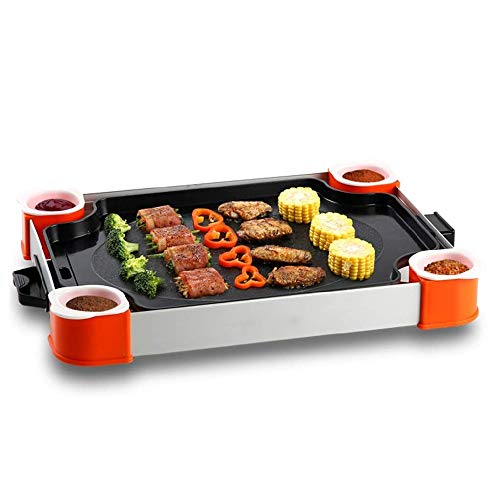 NILINMA Korean-style Barbecue Grill, Teppanyaki Electric Barbecue Grill Household Multifunctional Durable Electric Barbecue Pot